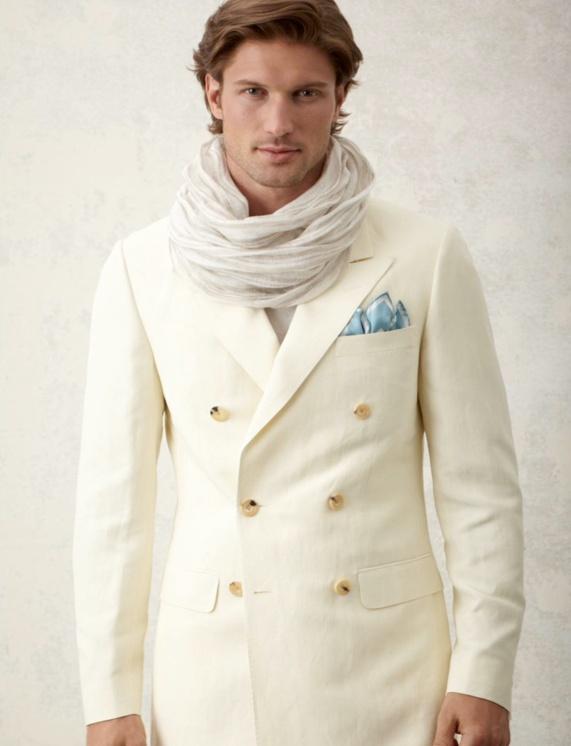 European style from Canadian fashion house Samuelsohn at David E White