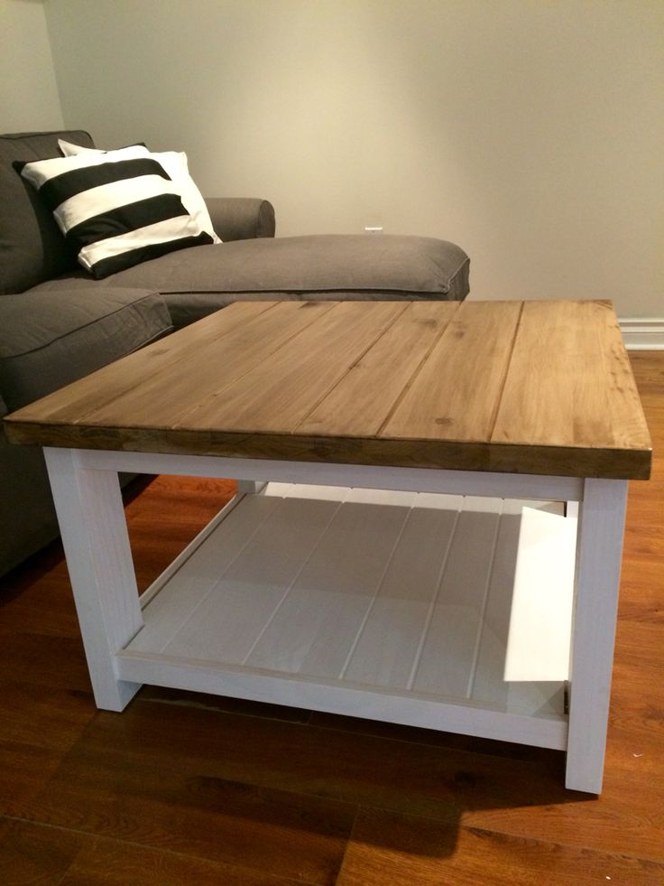 Ikea Hack Rekarne Coffee Table In Pine Painted And