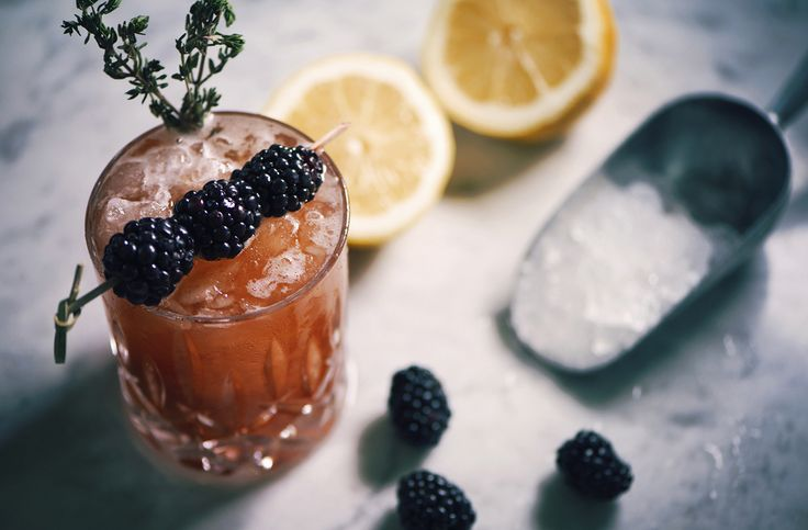 Blackberry & Thyme Old Fashioned