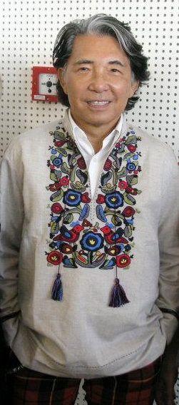Famous fashion designer Kenzo Takada in Ukrainian embroidery. Известный модельер Кензо Такада в украинской вышиванке.