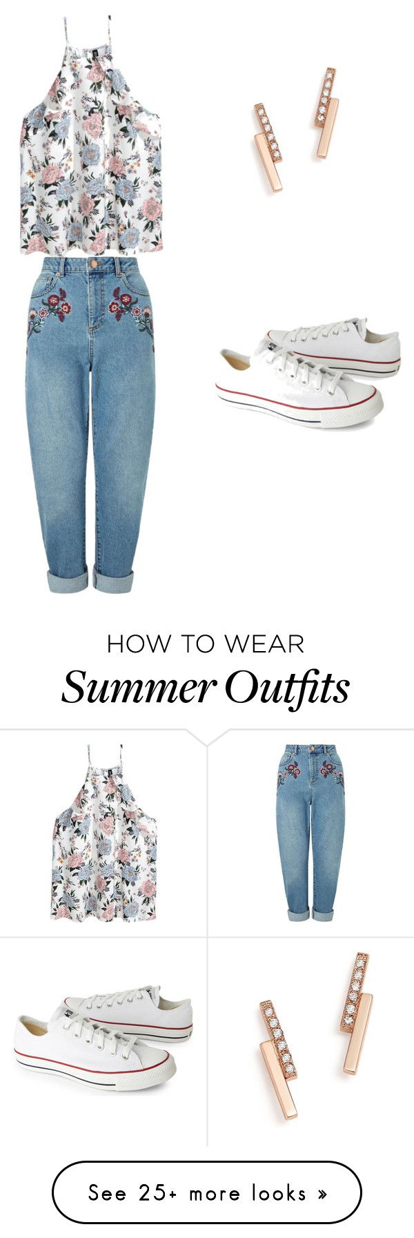 """""""Summer outfit"""" by estefaniacervantes44 on Polyvore featuring Zoë Chicco, Converse and Miss Selfridge"""