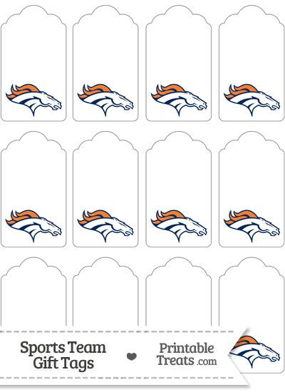 Denver Broncos Gift Tags from PrintableTreats.com