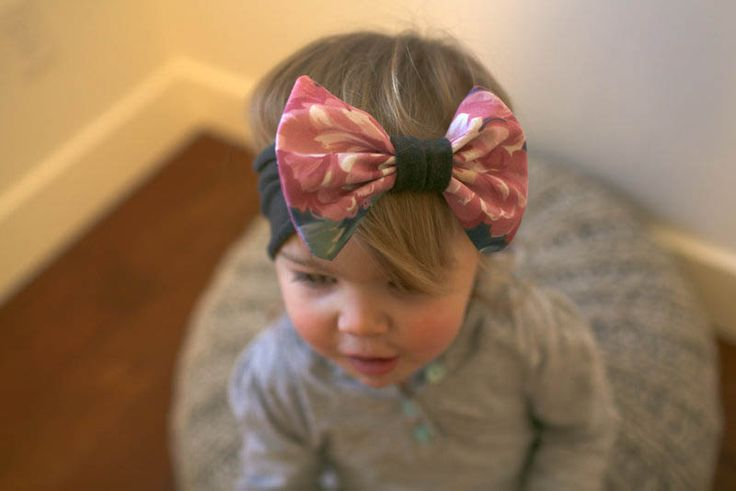 Vintage floral headband/ bow band/ big bow headband/ baby bow headband/ toddler bow headband/ headwrap/ turban https://www.etsy.com/shop/whimswear