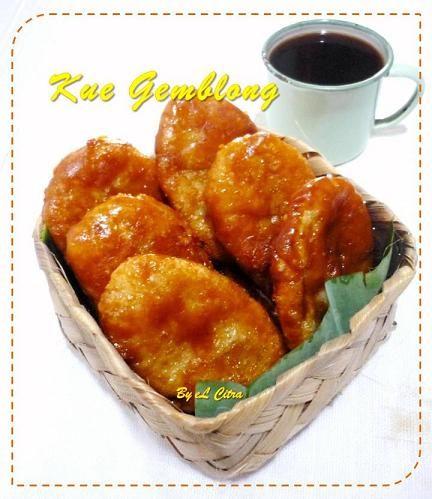 Indonesian snack. Gemblong