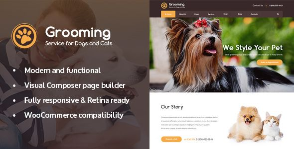 Grooming Pet Shop Veterinary Physician Wordpress Theme Pet Grooming Pet Shop Pet Grooming Salon