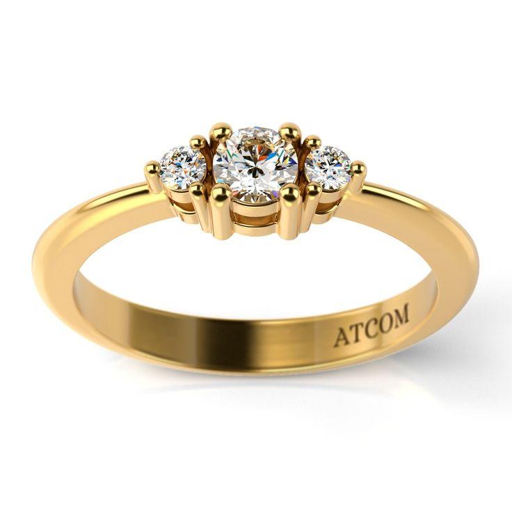 Inel de logodna din aur galben cu diamante Libra