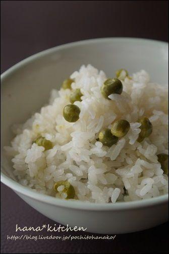 もちもちっ♪ グリーンピースご飯(豆ご飯)のレシピ。 by はなこさん ...