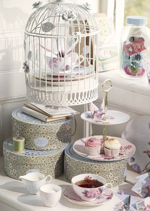50 best Birdcage  Roses Tea Party images by Afternoon