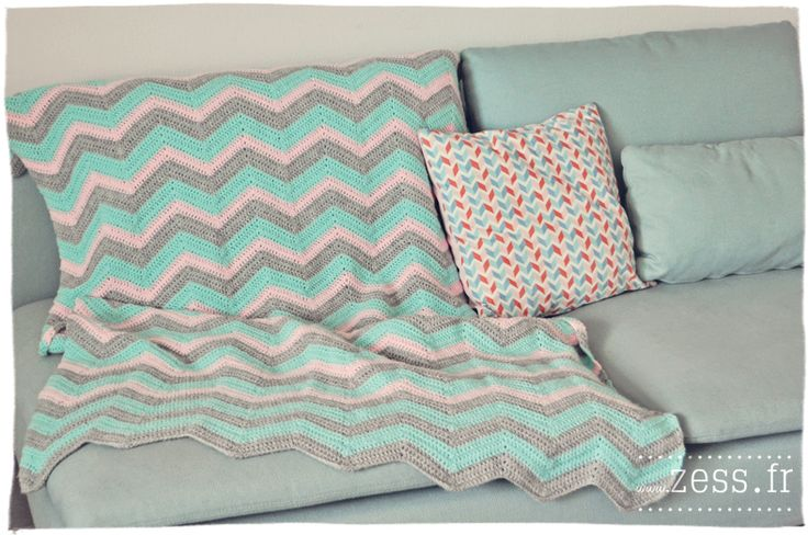 DIY : 2 plaids au crochet (granny square vs chevron)