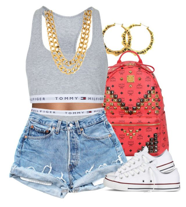 """""""Tommy"""" by lulu-foreva ❤ liked on Polyvore featuring MCM, Topshop and Converse"""