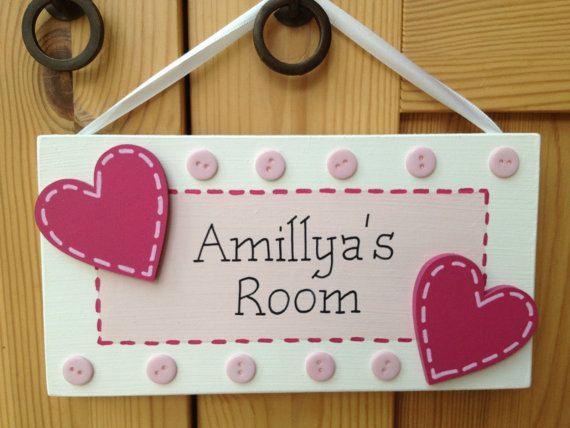 Personalised Childrens Name Door Bedroom Nursery By