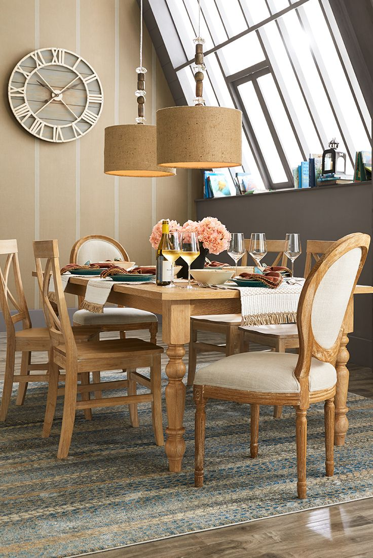 From casual to formal pier 1 s torrance turned leg dining for Pier 1 dining room table