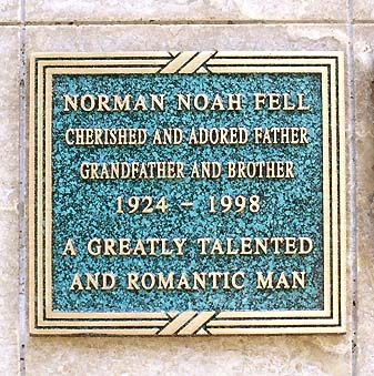 """THE GRAVE OF ACTOR NORMAN FELL (of  TV's """"Three's Company"""" and """"The Ropers"""") at Mount Sinai Memorial Park in Los Angeles, California"""