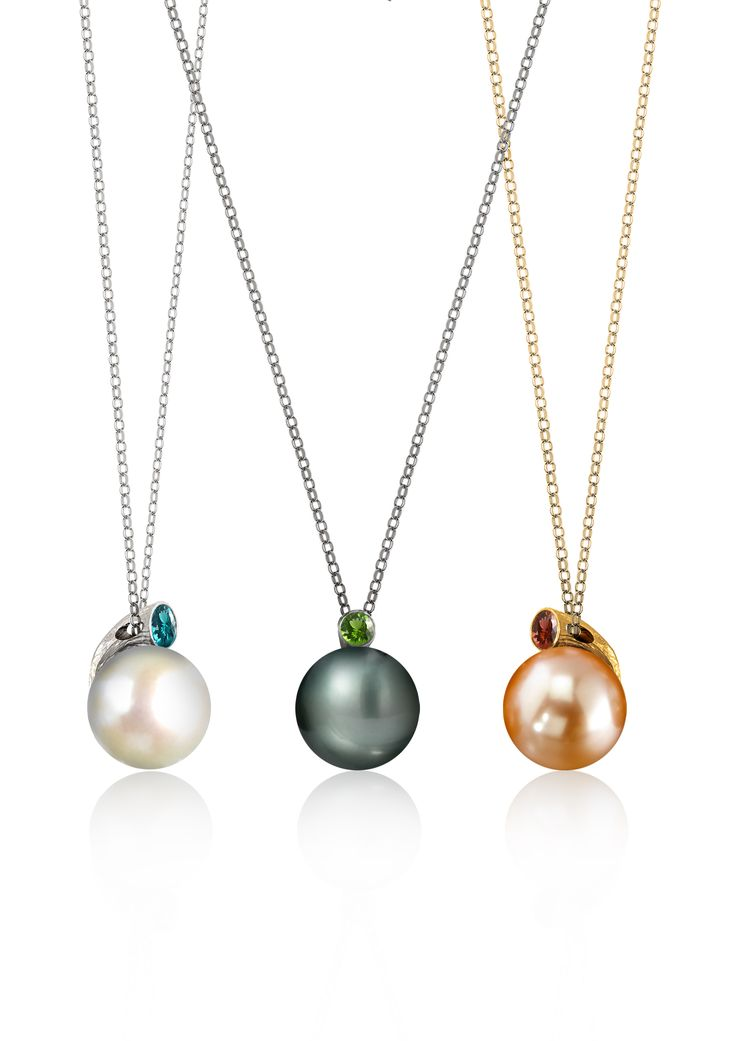 945 best jewelry images on pinterest fei liu dawn pendants 18k white black and yellow gold with 9mm pearl and aloadofball Image collections