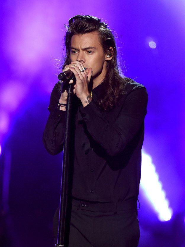Harry Styles Hair Bun 2015
