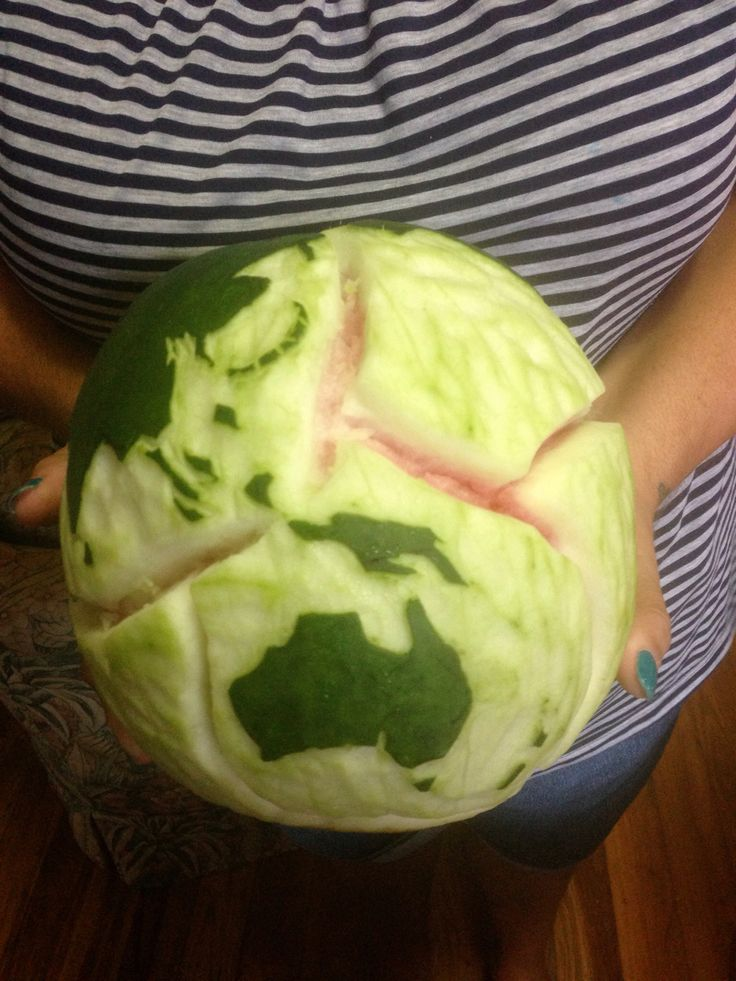 Watermelon carving: earth