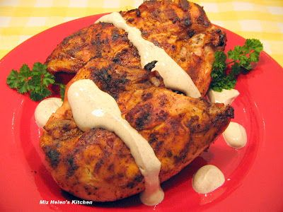 Miz Helen's Country Cottage: Grilled Chipotle Chicken with Chipotle Cream Sauce