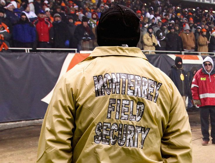 Bears Fans Jealous Of Soldier Field Security Guards With Back To Game