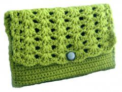 Shell Stitch Clutch Crochet Pattern PDF