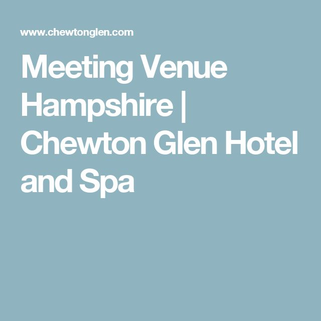 Meeting Venue Hampshire | Chewton Glen Hotel and Spa  https://www.thisisenvisage.com