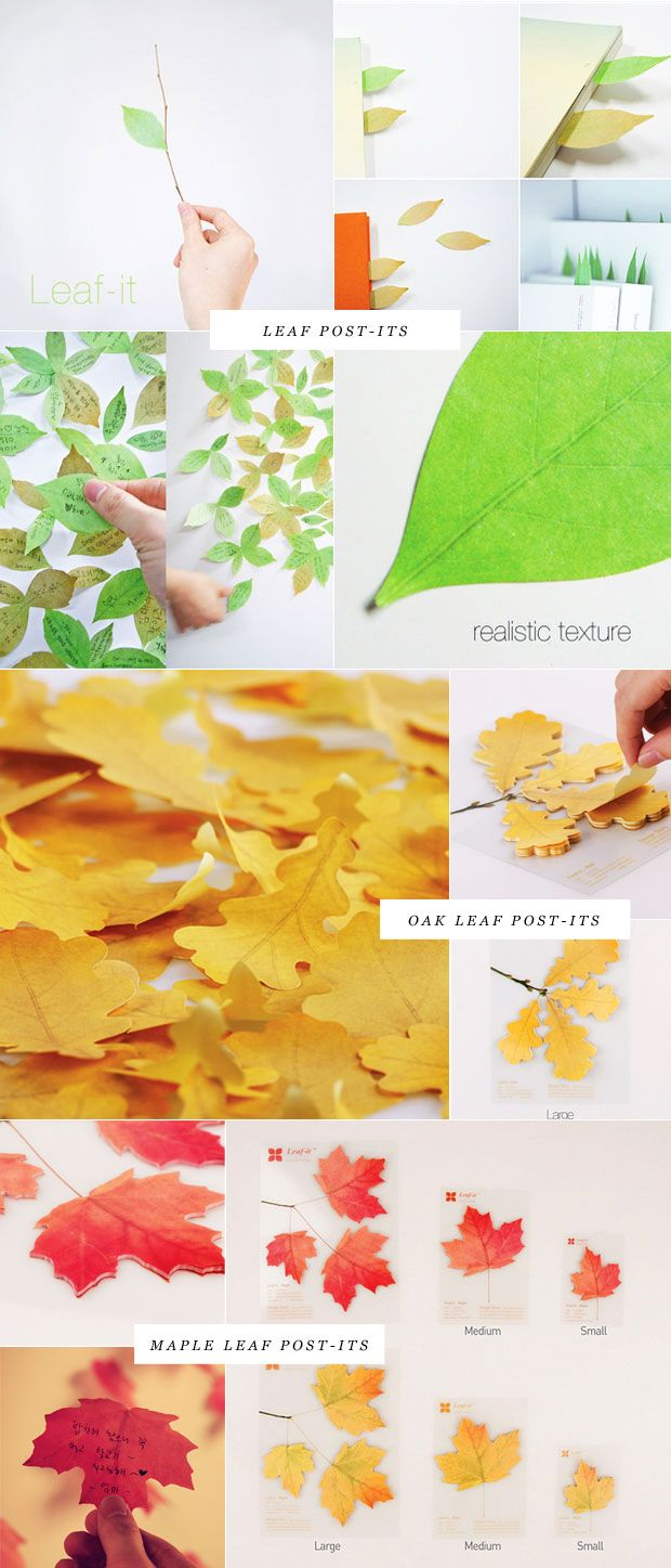 Leaf post-its