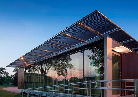 Living Light, the University of Tennessee's solar-powered house. Its lead student designers hailed from UT's graduate architecture program