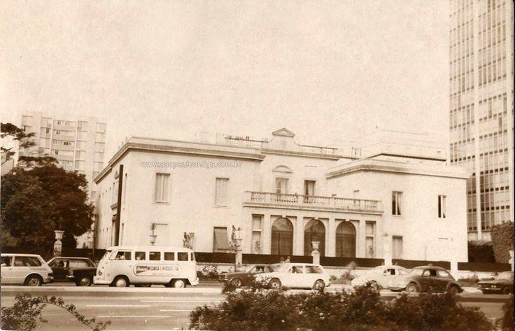 Matarazzo Mansion at Paulista Avenue in 1977 - Sao Paulo, Brazil