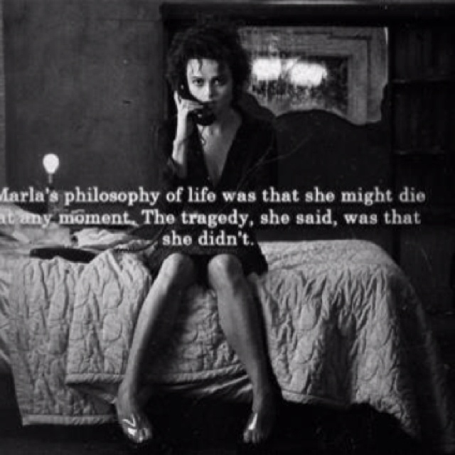 107 best Awesome Movie... Helena Bonham Carter Fight Club Quotes