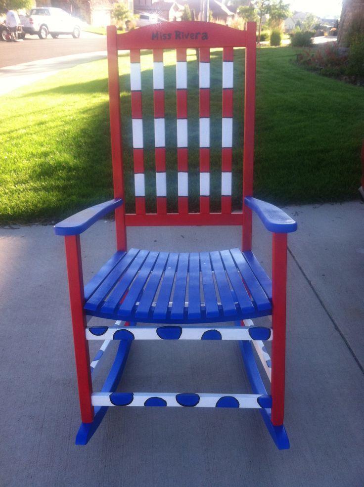 Dr. Seuss hand-painted teacher chair