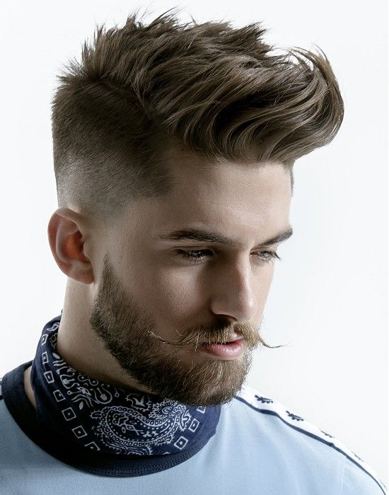 Short Brown Straight Spikey Hairstyle Haircut For Men