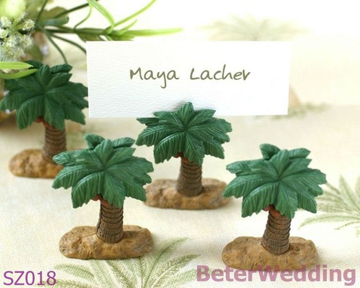 Party Decoration Palm Tree Place Card Holder SZ018 Shanghai Beter Gifts Co Ltd@http://www.BeterWedding.com on AliExpress.com. 5% off $18.05