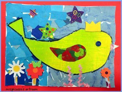 mrspicasso's art room: collageArt Teachers, Scrap Boxes, Paper Scrap, Paper Birds, Collage Birds, Art Projects, Mrspicasso Art, Boxes Birds, Art Rooms