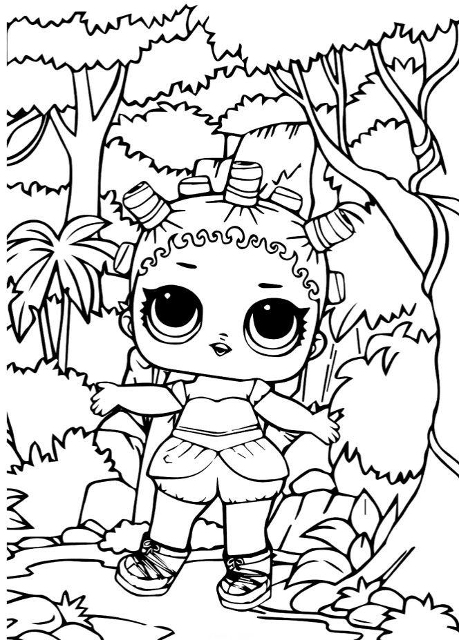 Раскраски «Куклы LOL» - «Кукла ЛОЛ космическая королева ...