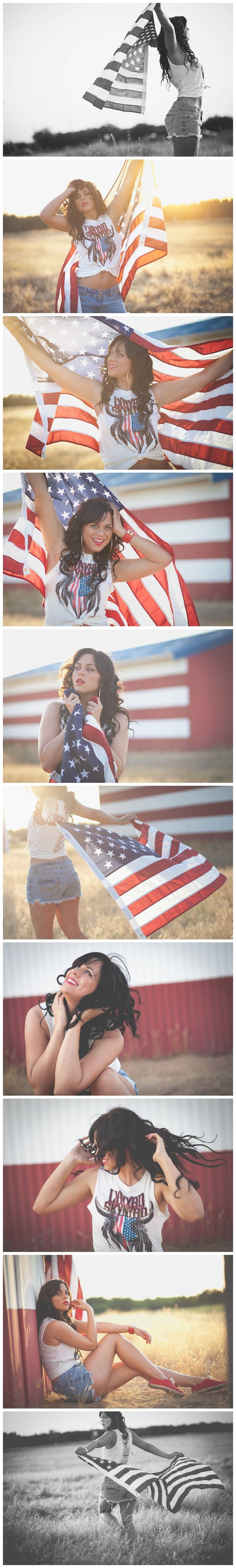 Definitely have to make sure the flag doesn't touch the ground... But what an amazing July shoot idea!!!