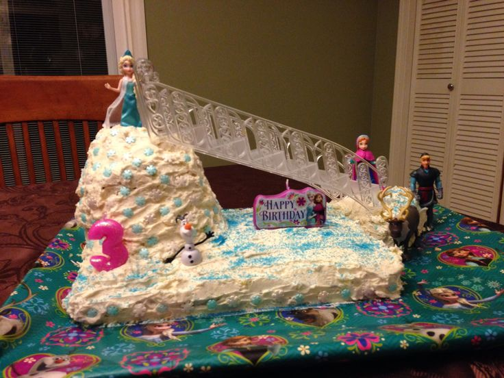 Frozen Birthday cake I made for my daughters 3rd birthday party!