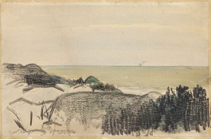 Leon Wyczółkowski (1852 Huta Miastkowska - 1936 Warszawa) Pejzaż, 1923 r.