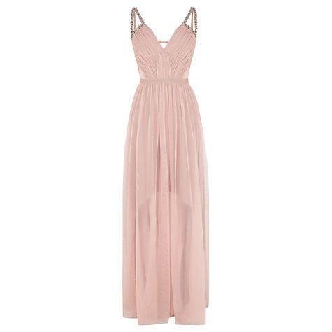 Buy Coast Starlight Embellished Maxi Dress, Blush Online at johnlewis.com
