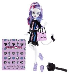 Monster High Dolls: New Scaremester Catrine DeMew Fashion Doll Purr-fectionist Catrine DeMew is the cat's meow for the new scaremester. Catrine DeMew doll comes with a signature-style brush, doll stand, folder and character-specific diary. http://awsomegadgetsandtoysforgirlsandboys.com/monster-high-dolls/ Monster High Dolls: New Scaremester Catrine DeMew Fashion Doll