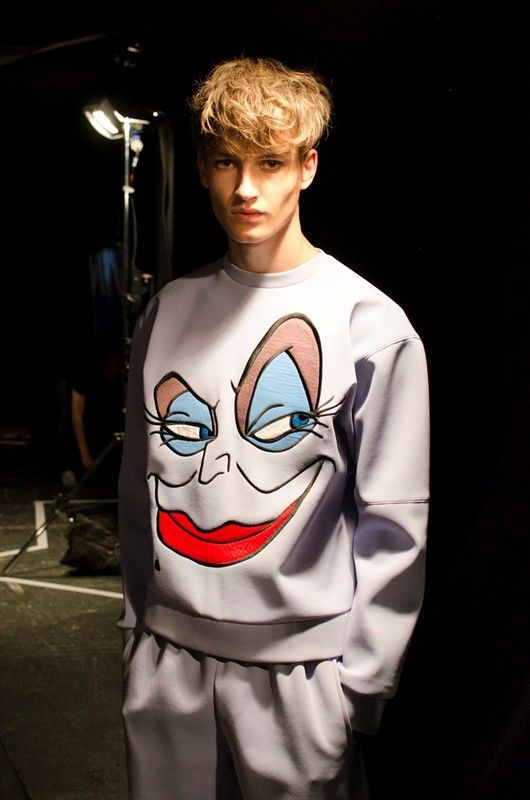 Dark Disney skater boys at Bobby Abley SS15, part of the MAN Fashion East initiative. More images here: http://www.dazeddigital.com/fashion/article/20301/1/man-ss15