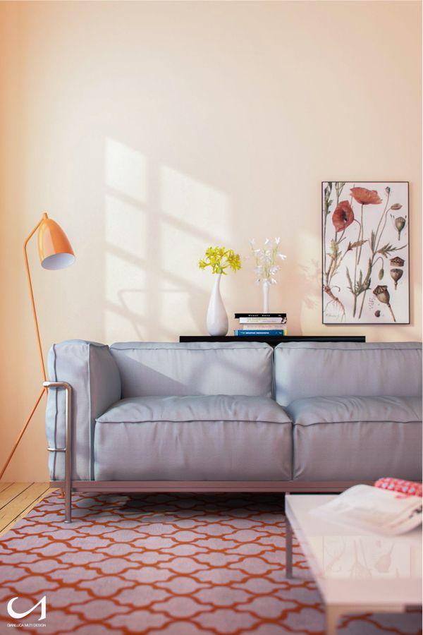 Soft Living Room by Gianluca Muti, via Behance
