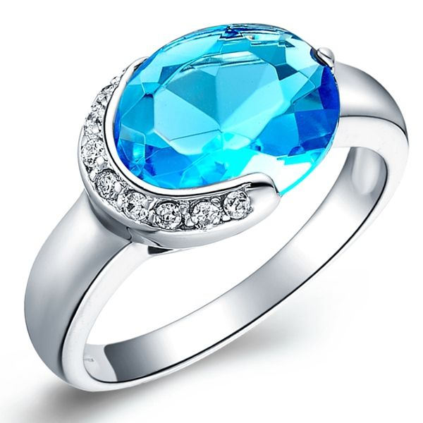 Find More Rings Information about Blue Simulated Diamond Pattern Ring with Micro Pave 925 Sterling Silver Rings for Women Bijoux Anillos de Compromiso Ulove J126,High Quality ring rice,China ring engagement Suppliers, Cheap ring peridot from Ulovestore Jewelry on Aliexpress.com