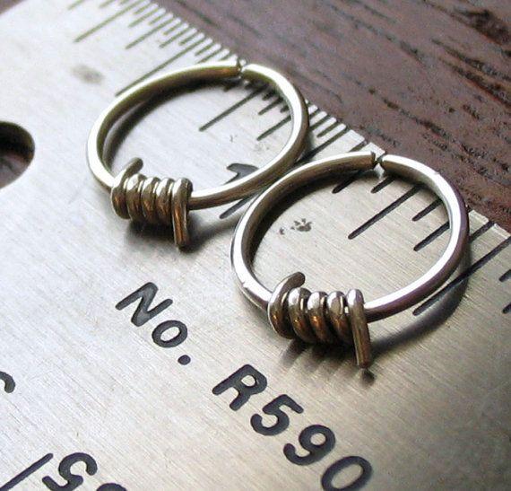 Men's Earrings Men's Hoop Earrings Barbed by girltuesdayjewelry, $25.00