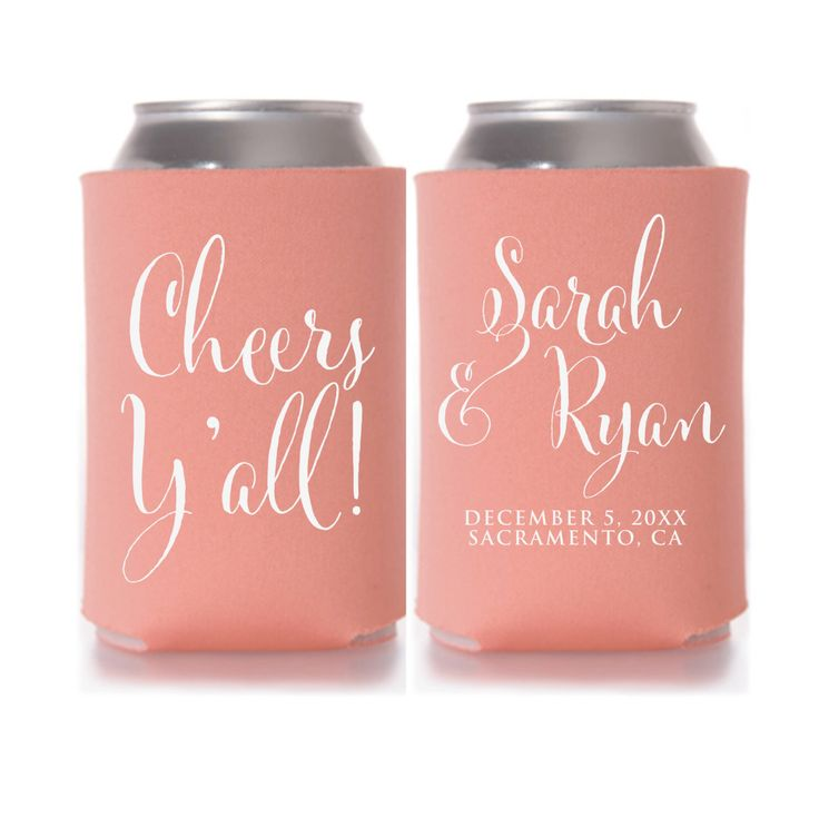 ideas about wedding koozies on pinterest personalized wedding favors