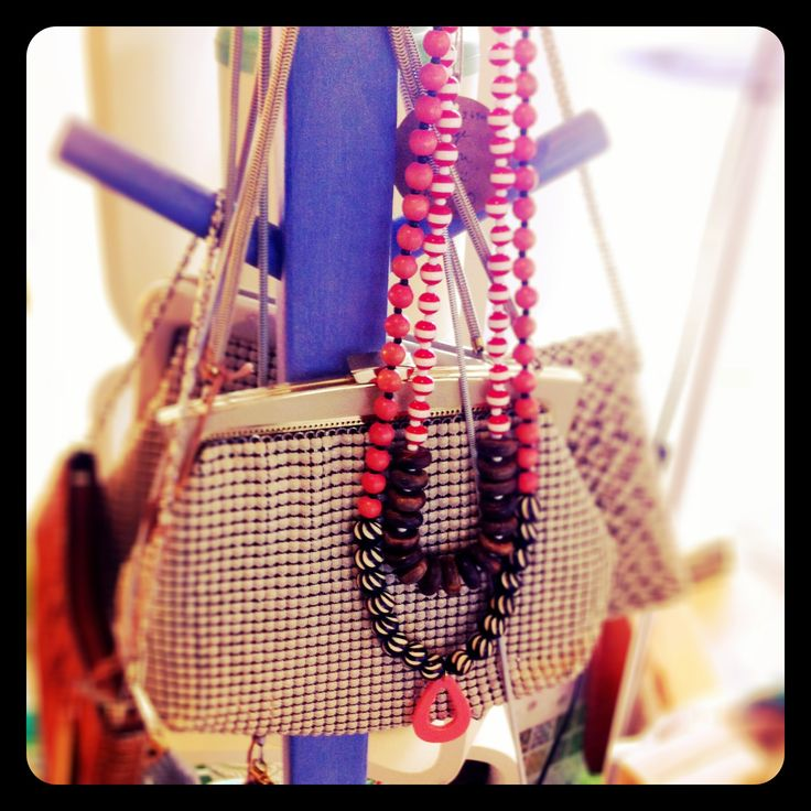Reclaimed bead necklaces - now available at Retrospections
