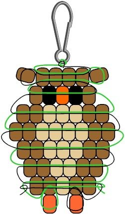 Whooo wouldn't want to make this Pony Bead Owl. It's great for kids to make for there backpack, key chain or decoration. Owls are a favorite theme