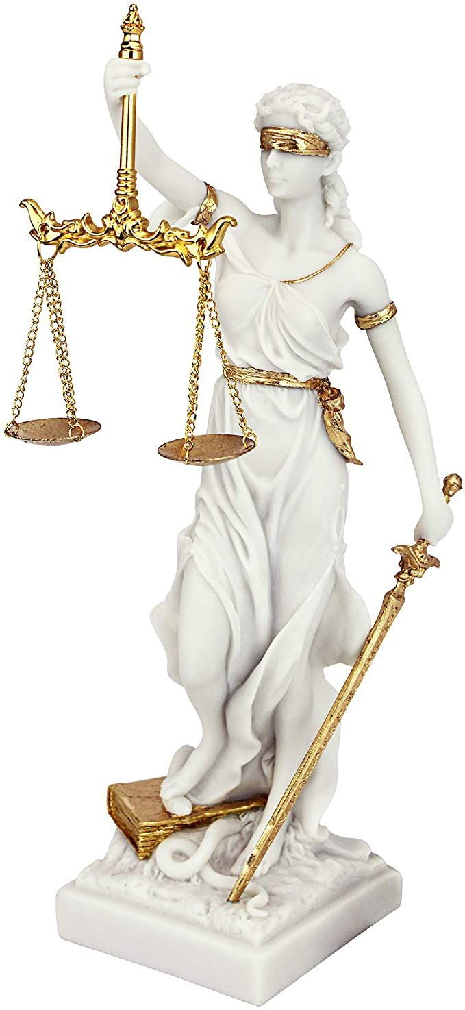 Amazon Com Design Toscano Themis Blind Lady Of Justice Statue Lawyer Gift 13 Inch Bonded Marble Polyresin W Lady Justice Statue Justice Statue Lawyer Gifts
