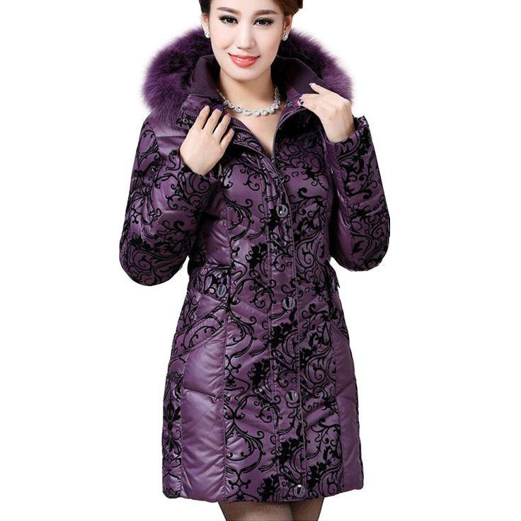 2016 Winter Jacket Women Plus Size 6XL Fox Fur Hooded Long Duck Down Coats Flocked Down Parkas Outerwear Winter Coat Women 6882