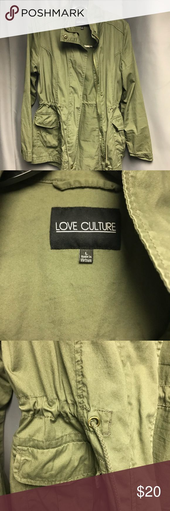 🌟ARMY GREEN MILITARY JACKET🌟 Army Green (Color is darker in person)  Cute lightweight jacket! Lightly worn in GREAT condition Love Culture Jackets & Coats