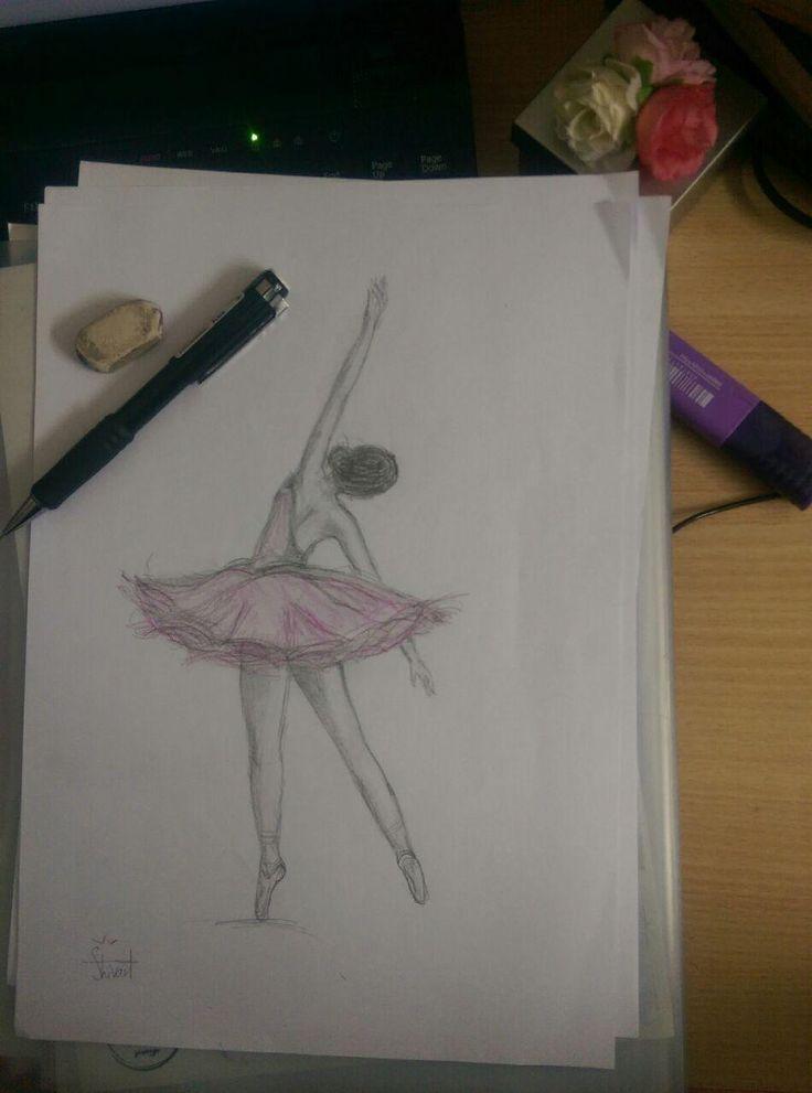 ballet dancer- color pencil- shivart