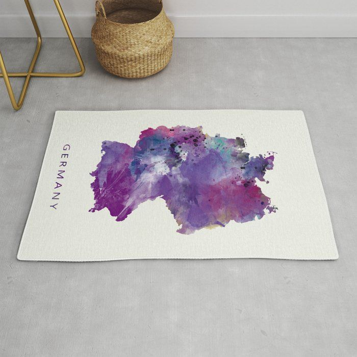 Germany Map Painting Watercolor Mapofgermany Wallart Europe Deutschland Berlin Travel Statemap Homedecor Modern Artwork Map Rug Germany Map Rugs